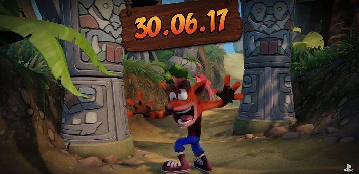 Crash Bandicoot N Sane Trilogy se estrena 30 de junio en ps4
