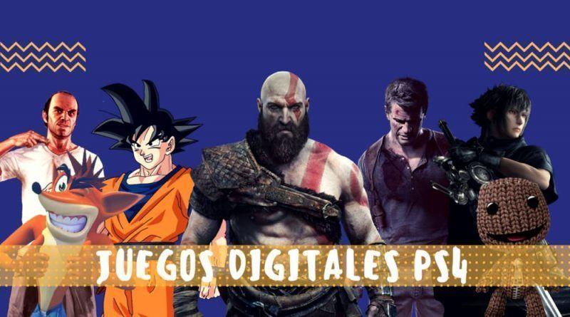juegos digitales ps4 en la playstation store