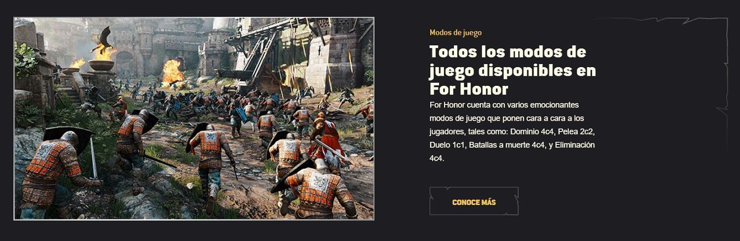 modos de juego for honor de ubisoft
