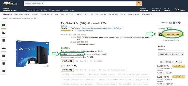 paso 1 es comprar ps4 pro y añadir a la cesta en amazon