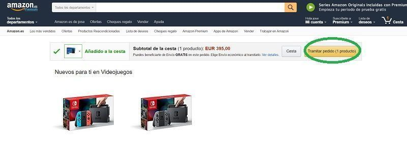 paso 2 es proceed to checkout la ps4 en amazon