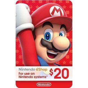 nintendo eshop $20 usa para switch, wii u y 3ds