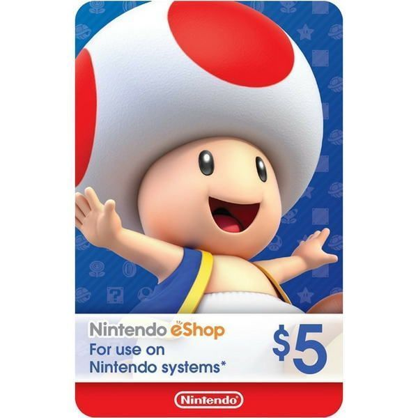 nintendo eshop $5 usa para switch, wii u y 3ds