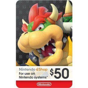 nintendo eshop $50 usa para switch, wii u y 3ds