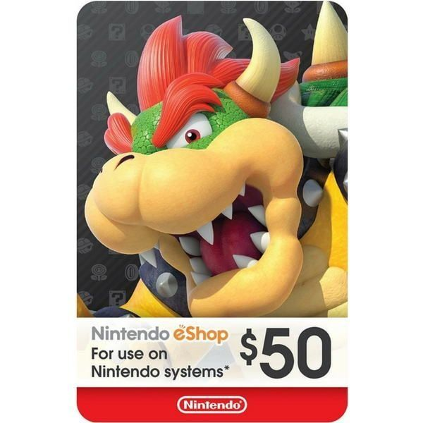 nintendo eshop $50 usa para switch, wii u y 3ds