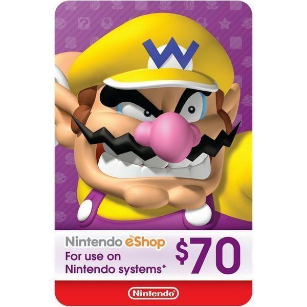 nintendo eshop $70 usa para switch, wii u y 3ds