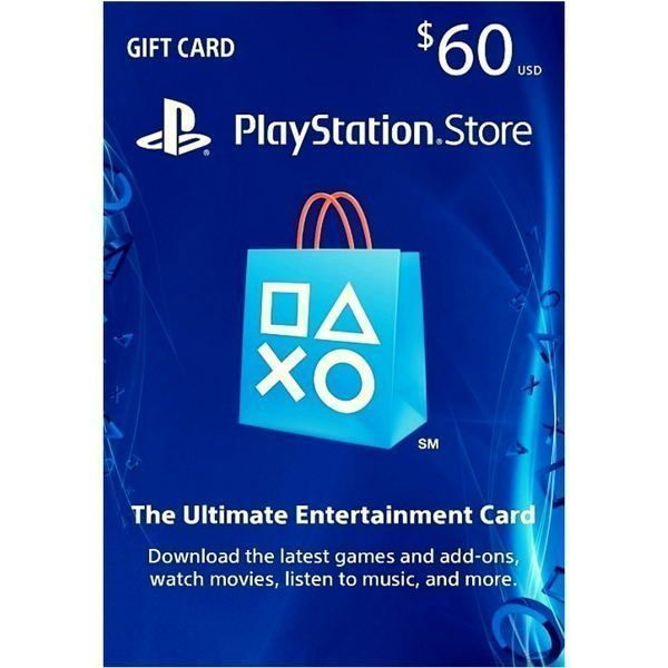 psn card 60 usd en la playstation store