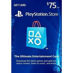 psn card $75 usa en la playstation store