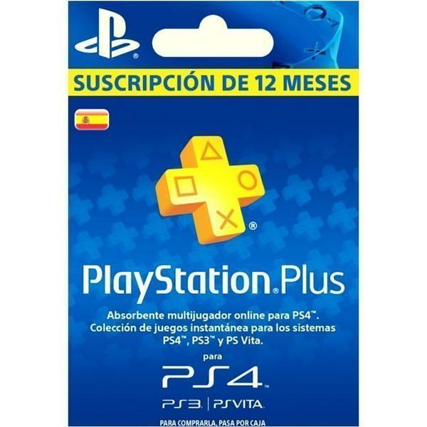 playstation plus españa 1 año para ps4, ps3 y ps vita
