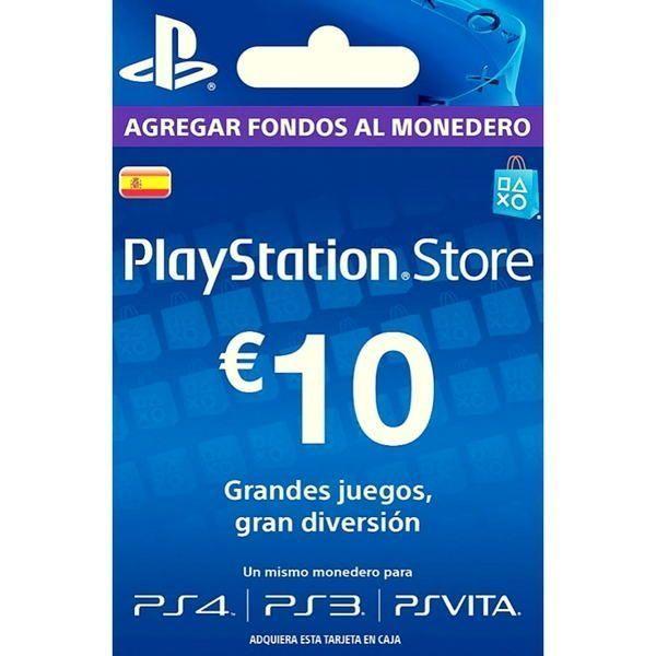 psn españa 10 euros para ps4, ps3 y ps vita