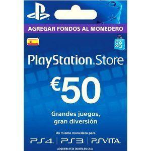 psn españa 50 euros para ps4, ps3 y ps vita