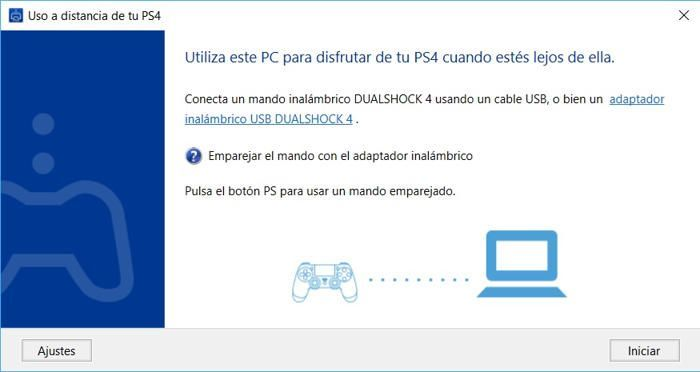 emparejar mando ps4 y pc en la aplicacion remote play