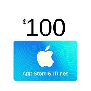 comprar itunes gift card $100, válido en app store