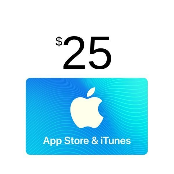 itunes gift card 25 usa app store scheda up. Black Bedroom Furniture Sets. Home Design Ideas