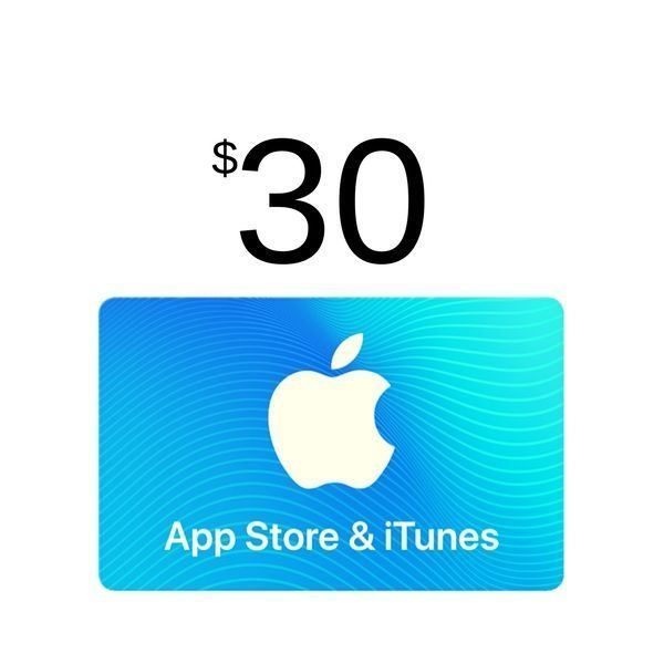 compra itunes gift card $30 usa, válido app store