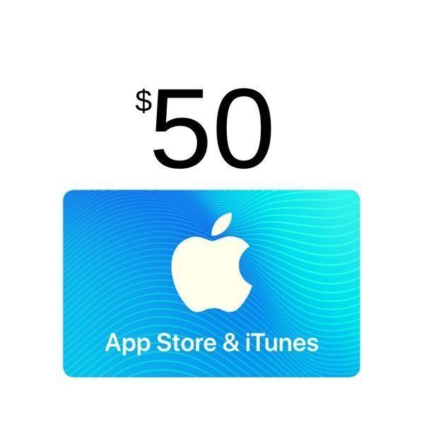 comprar itunes gift card $50, valido en app store