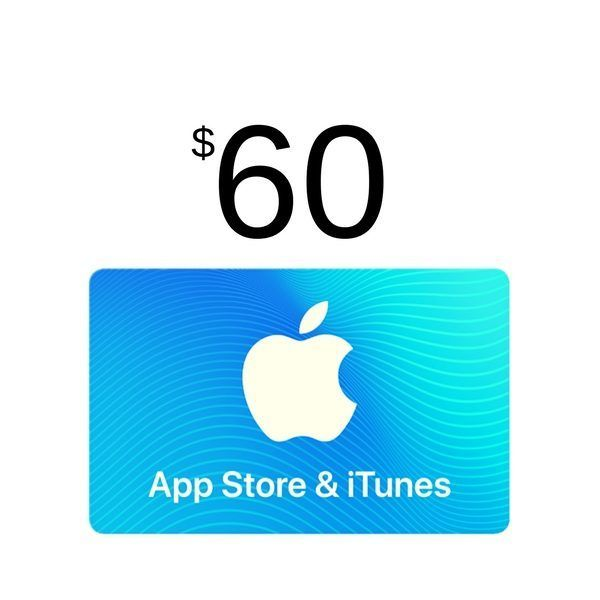 comprar itunes gift card $60, válido en app store