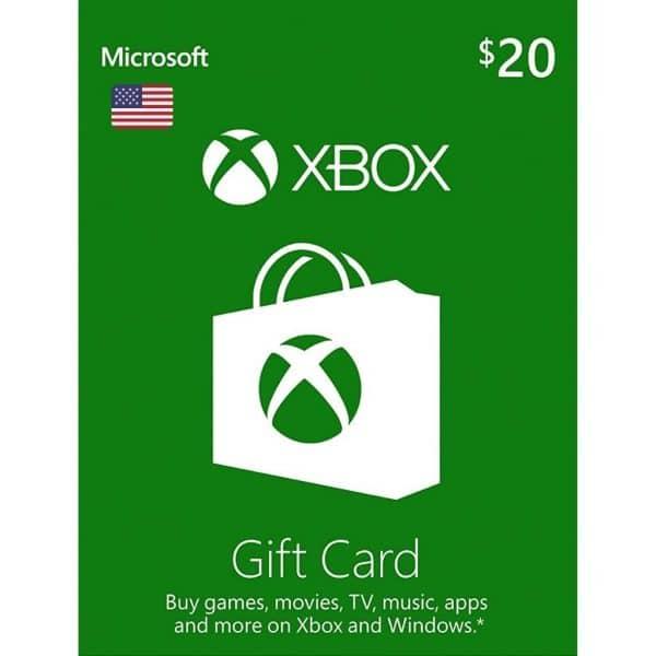 xbox gift card 20 usd usa xbox one 360