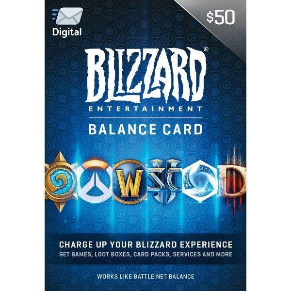battle.net $50 us en blizzard balance entertaiment