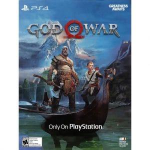 god of war ps4 junto a kratos y atreus