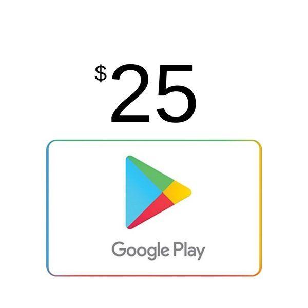 google play $25 usa para android
