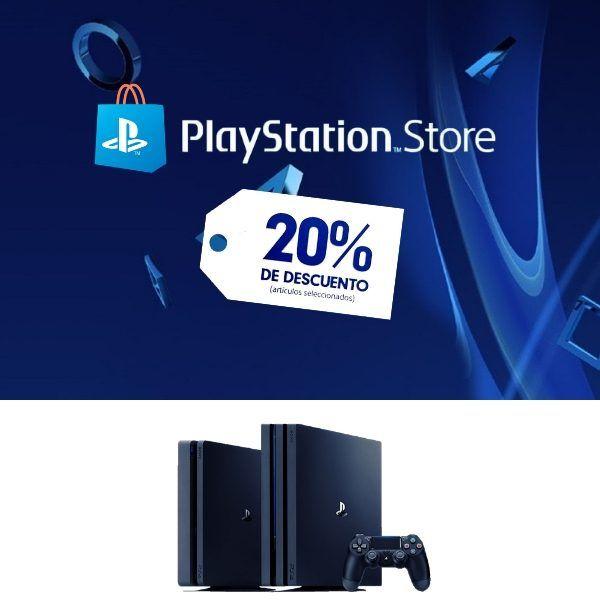 playstation store 20% descuento en playstation 4- scheda up