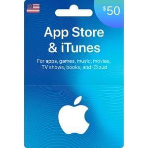 tarjeta itunes 50 dolares usa en app store- scheda