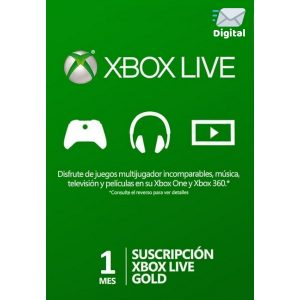 xbox live gold 1 mes global en xbox one y xbox 360