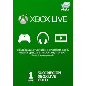 xbox live gold 1 mes global en xbox one y xbox 360