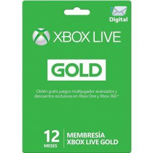 xbox live gold 12 meses para xbox one y xbox 360